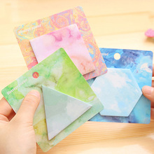 Buy 2pcs/lot 4 Shapes Memo Pad N Times Post Sticky Notes Bookmark School Office Supply Escolar Papelaria Stationery Paper for $1.24 in AliExpress store