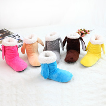 2015 new indoor home slippers cotton slippers plush home slippers wooden floor slippers for women and man Plush shoes