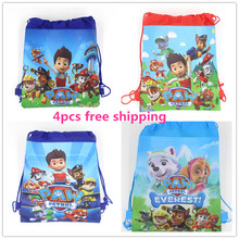 4pcs cartoon Cute Dogs party decoration backpack school pen pencil bag birthday gift mochila drawstring bag for kids girls boys(China (Mainland))