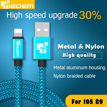 Original Tiegem 8 pin USB Date Charger Cable for iPhone 5 5s SE 6 6s plus iPad 34 mini for ios 8 9 short 1M(China (Mainland))