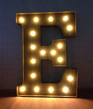Customisation Vintage Large metal LED Marquee Sign  Letters LIGHT UP signs light BAR Indoor Deration(China (Mainland))