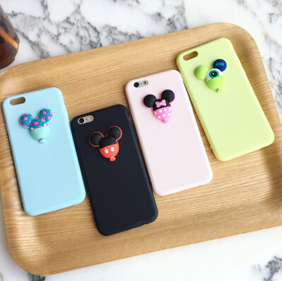 Cute Cartoon 3D Jelly Mouse Case Cover For Apple iPhone 6 6S Case Silicone 6 Series Soft TPU Macaroon Case For Phone(China (Mainland))