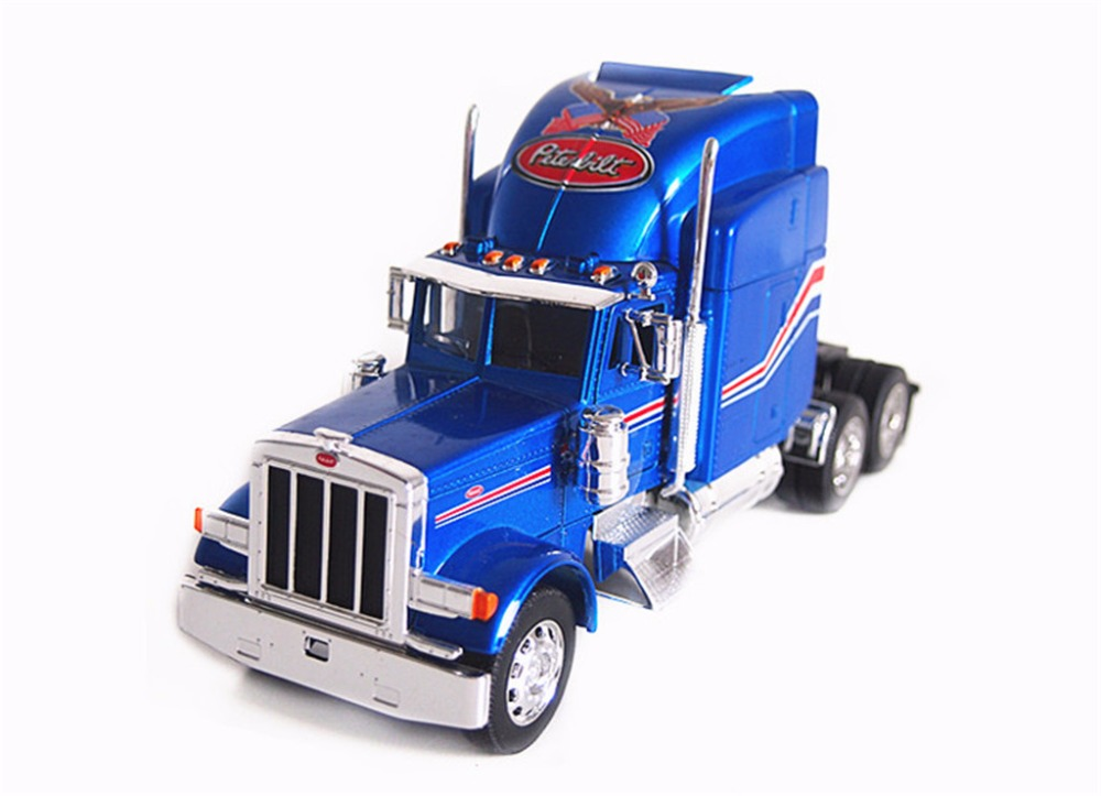 1:32 Welly Peterbilt 379 Semi Tractor Trailer Truck Diecast Model Blue New in Box 39940(China (Mainland))