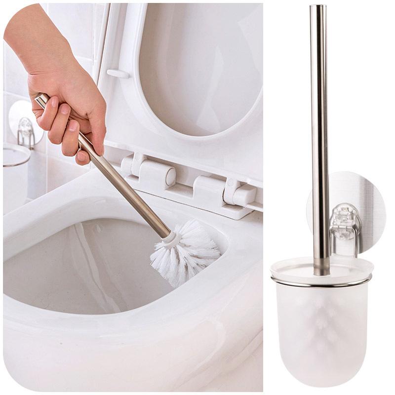 vanzlife липучке держатель нержавеющая сталь туалет кисти установить с основанием унитаза чистка ершом меха