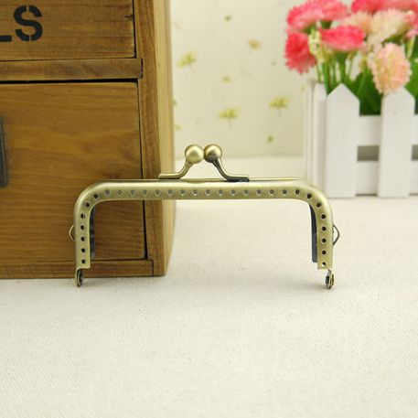 Track Ship + 20pcs/lot DIY 10.5cm antique Bronze Metal Purse Frame Handle for Bag Sewing Craft Tailor Sewer,Freeshipping(China (Mainland))