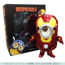 Free Shipping Anime Cartoon Despicable Me 2 Minion PVC Action Figure Toy Doll Iron Man Style 8″ 20cm