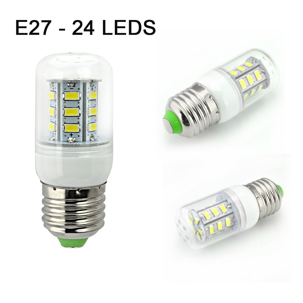 Smart IC Drive E27 220V Led Light 24 36 48 56 69 81 89Leds 5730 Corn Bulb lampada led Lamps CE ROHS Lighting(China (Mainland))