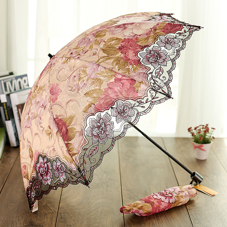 Transparent Special Offer Top Fashion Ghibli Umbrellas 2015 Sun City Female Folding for Protection Super Embroidery Anti-uv(China (Mainland))