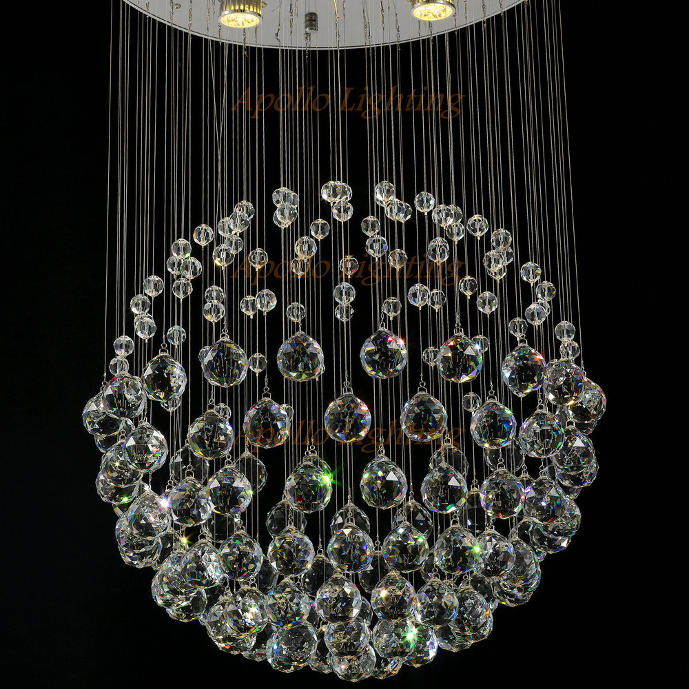 moderne led ball k9 kristall kronleuchter modisches design. Black Bedroom Furniture Sets. Home Design Ideas