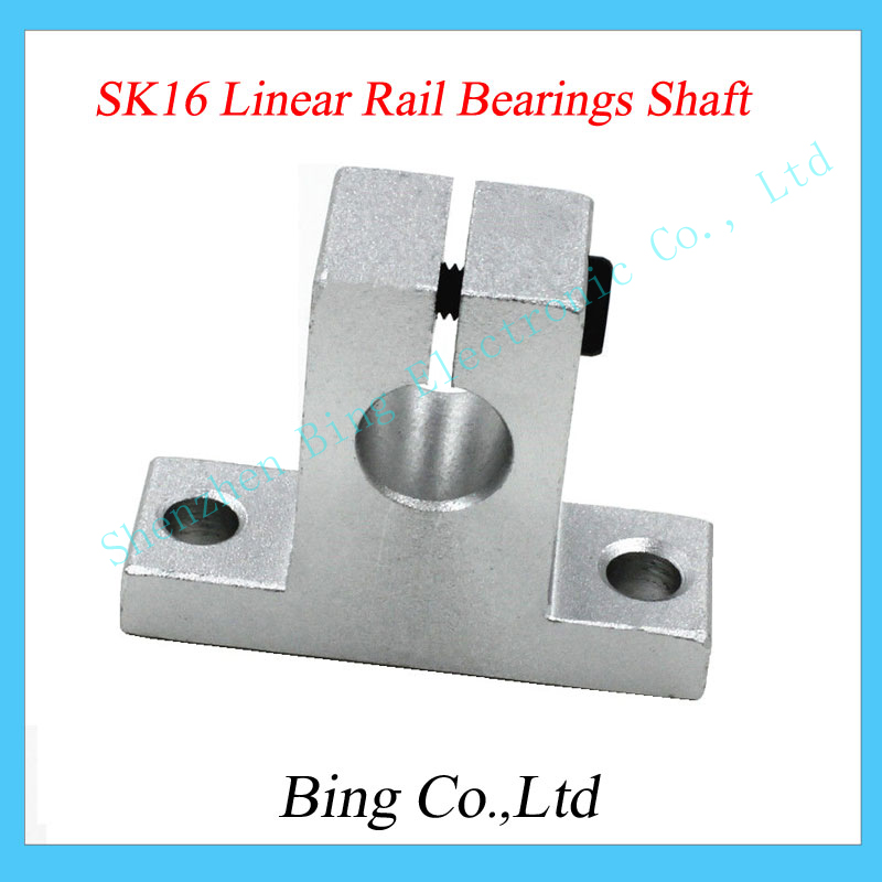 4pcs lot 3D printer parts SK16 16mm linear rail Bearings Shaft Guide Support XYZ Table CNC