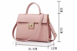 Concise Plain PU Hand Bag 2016 New Trendy Single Shoulder Lady Retro Designer Twist Lock Bag Women Elegant Fashion Shoulder Bag