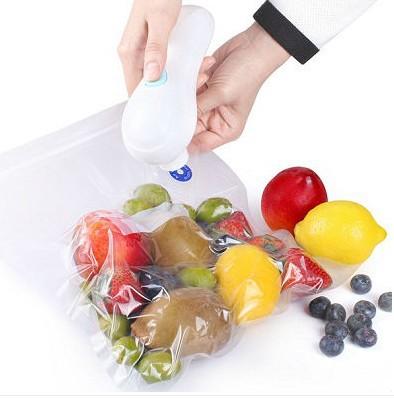 Hand held Vacuum Sealer, house held food saver vacuum sealer, manual food saver pump, vacuum bag sealing machine, packaging tool(China (Mainland))