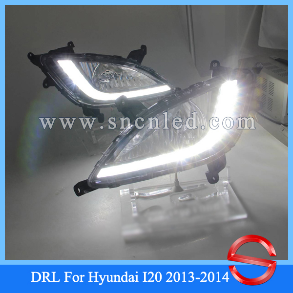 Discount price for CAR-Specific Hyundai i20 2013 2014 LED DRL, I20 LED Daytime Running Light , fog light house model(China (Mainland))