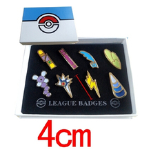 Pokemon Badge Brooch Small Pokemon Figures Toy Zinic Alloy Brooch Pokemon Action Figures Anime Toy(China (Mainland))