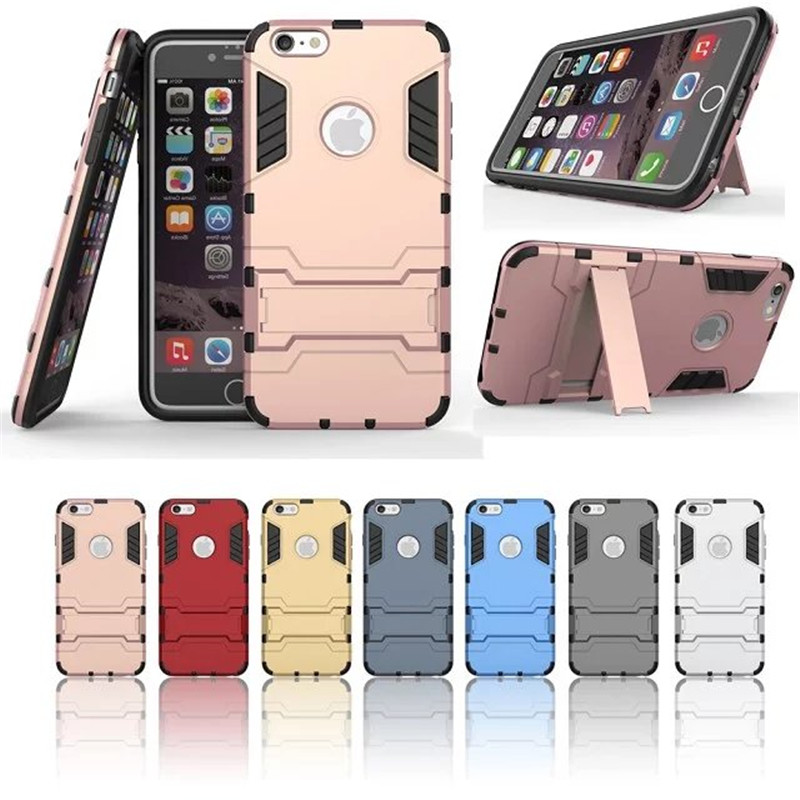 For iPhone 6 6s Case Hybrid Kickstand 2 in1 combo Bracket Stand Case + Heavy Duty Armor Phone Back case For Apple iPhone 6 6s(China (Mainland))