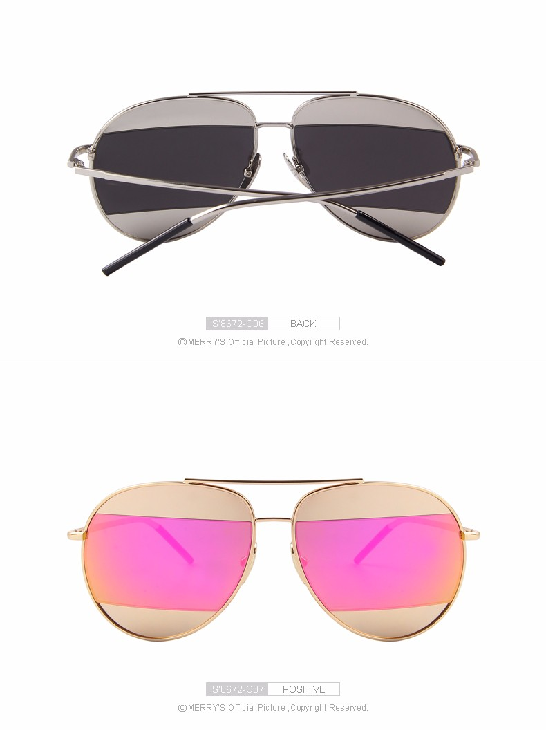 MERRY'S Fashion Women Sunglasses Classic Brand Designer Shades Metal Frame Luxury Sunglasses 2016 S'8672