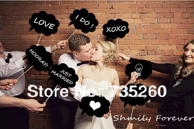 New Year Sale!Free shipping,10pcs/lot Wedding Birthday party fun favor for Birde&Groom Photography Photo Brooth Prop Funny Gifts(China (Mainland))