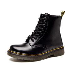 Mùa Thu Đông Nền Tảng Giày Nữ Mắt Cá Chân Cho Giày Người Phụ Nữ Da Phối Ren Giày Nữ Tuyết Trắng Botas Zapatos De mujer(China)
