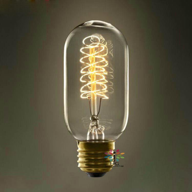 Buy Incandescent Bulb E27 40w Ac 110v T45 Tungsten: 6pcs/lot T45 40W E27 Filament Warm White Edison Bulbs