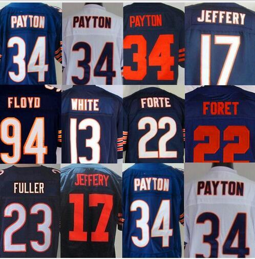 #94 Leonard Floyd #13 Kevin White #17 Alshon Jeffery #34 Walter Payton 23 Kyle Fuller 22foret Jersey(China (Mainland))