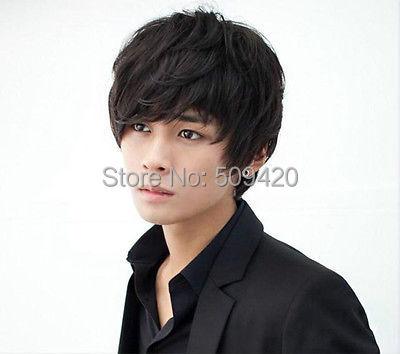 FSX5982Q>>Handsome Boys Wig New Korean Fashion Short Men Natural Black Hair Cosplay Wigs(China (Mainland))