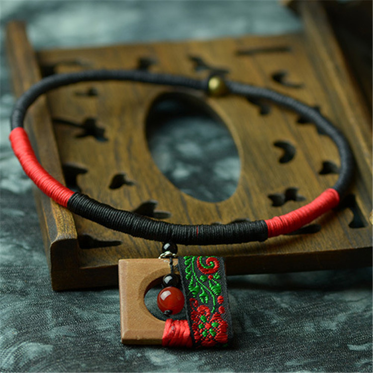 2016 New chokers necklace women vintage necklaces natural fashion jewelry wholesale retail wood pendant accessories gift XL075(China (Mainland))
