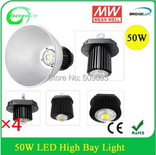 New Arrival Bridgelux chip +MW Driver 50W LED High Bay Lighting Industrial Lamp 3 years warranty(China (Mainland))