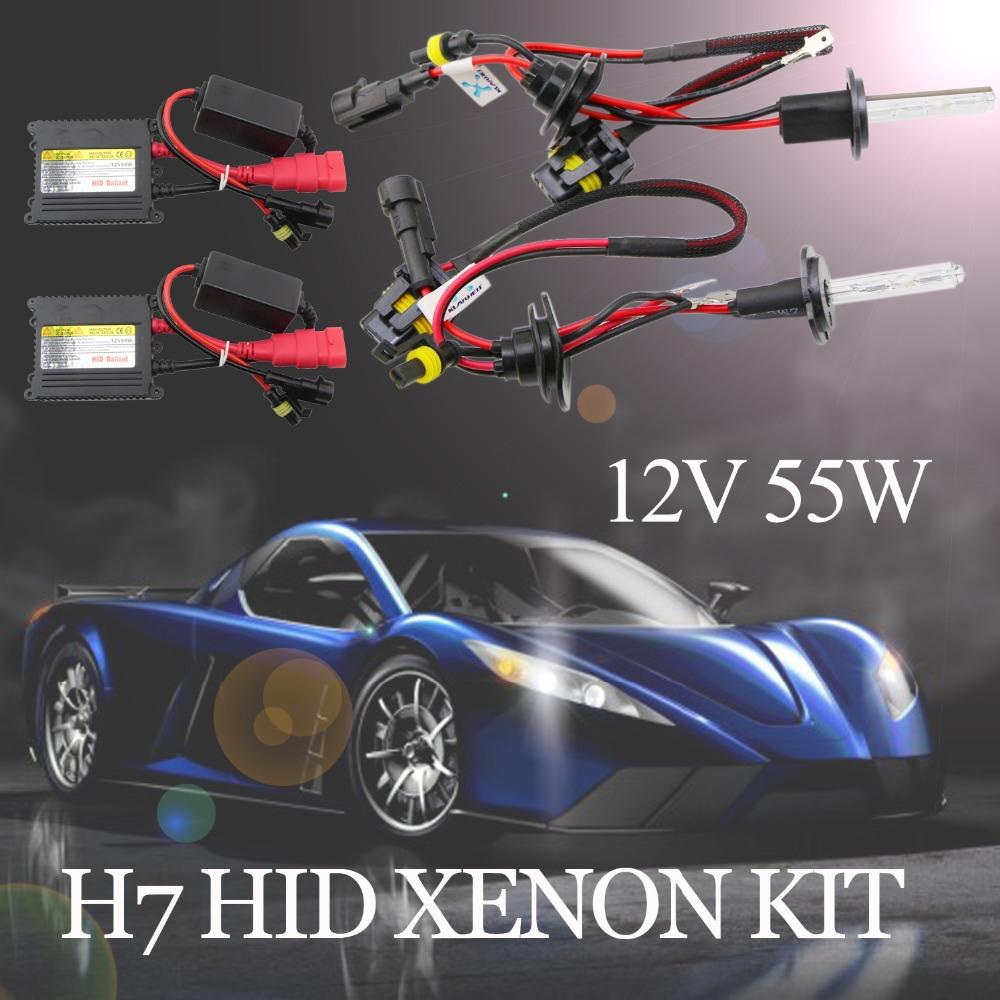 Xenon HID Replacement Kit H7 55W 12V HID Xenon Bulb 4300K 6000K 10000K Car Styling Parking Light Fog Light Headlight 1 Pair(China (Mainland))