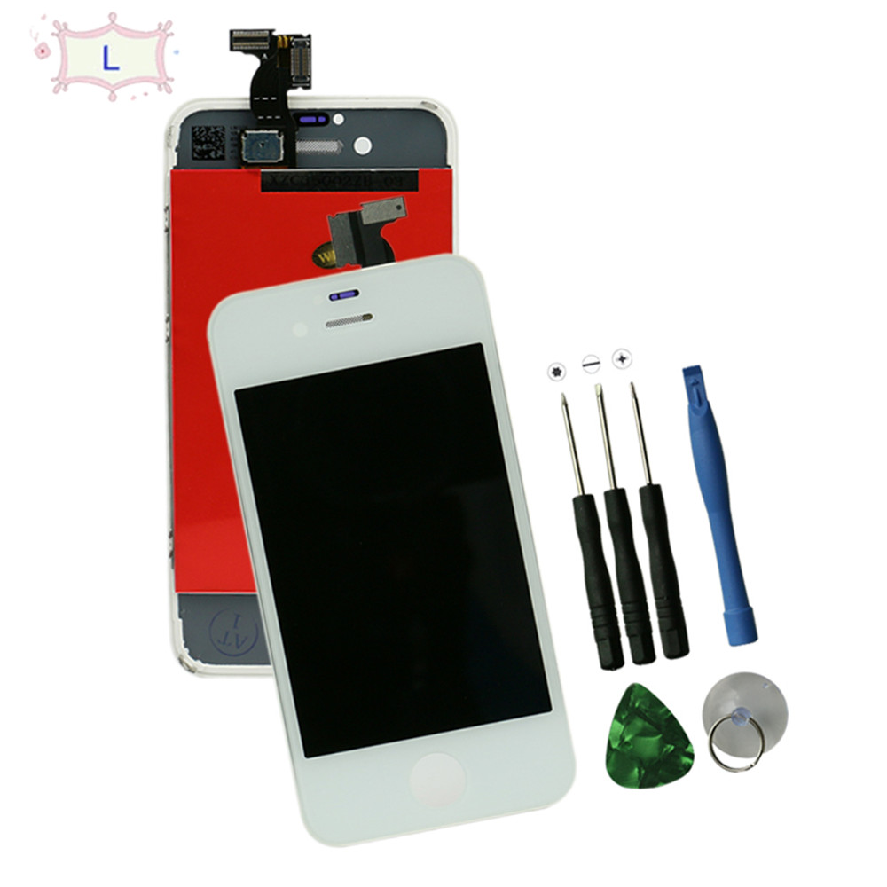 Black and white for iphone 4  4 s lcd digitizer assembly lcd display touch Screen Replacement  for iPhone 4 4s with tools