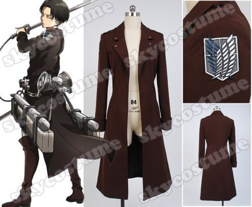 Attack on Titan Shingeki no Kyojin Eren Jaeger Rivaille Cosplay Costume Long CoatОдежда и ак�е��уары<br><br><br>Aliexpress