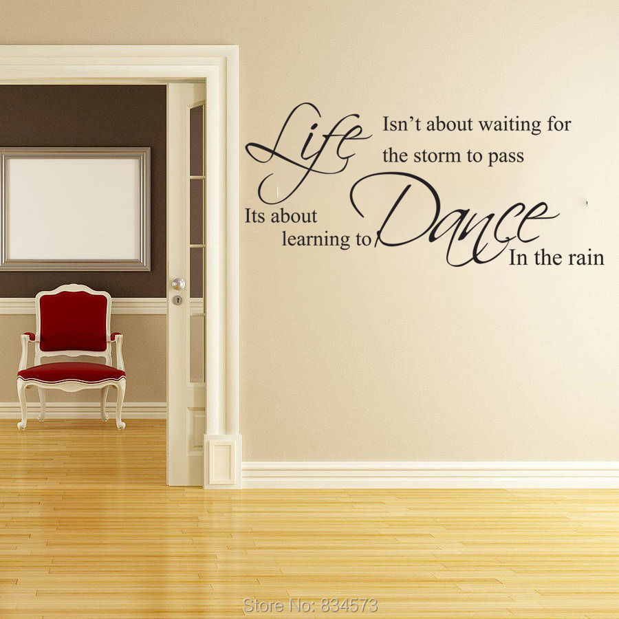 Life is Not a Waiting Room Life Isnt About Waiting Wall