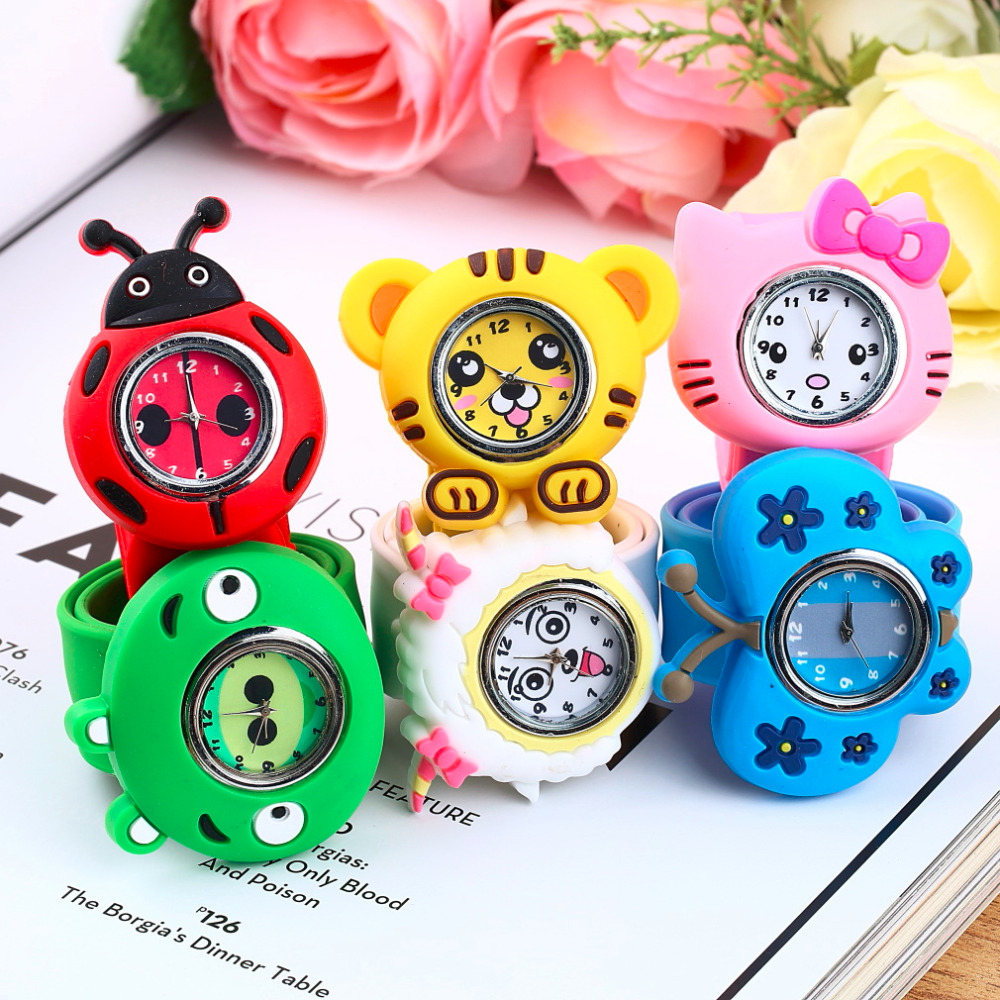 1pc Boys Girls Children Kids watches reloj Fashion Animal Slap Snap On Silicone Wrist Watches Kids Creative Gift 2017 Newest(China (Mainland))