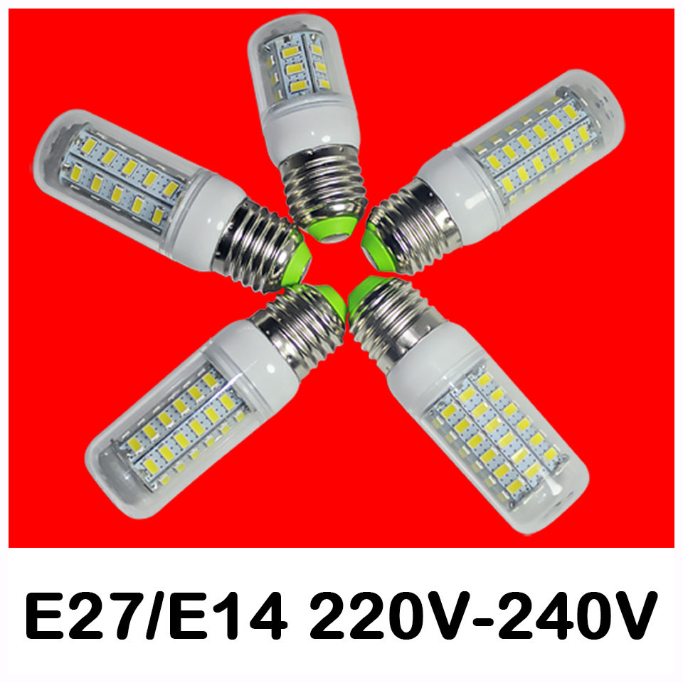 E27 LED e14 Led Lamps 5730 220V 7W 12W 15W 18W 20W LED Corn Led Bulb Christmas Chandelier Candle Lighting(China (Mainland))