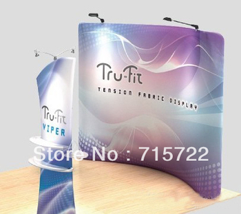10ft Curved Shape Fabric Pop Up Display Stands