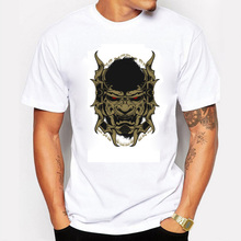 Game Throne Fashion 2016 Summer Men T Shirt Cotton samurai mask Print Casual T-shirt for Men O-neck