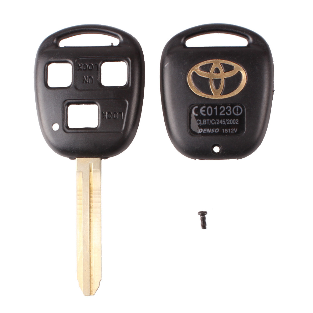 High Quality For Toyota Camry 3 Buttons Remote Key Shell Car Keys Blank Case With Toy43 Blade Free Shipping(China (Mainland))