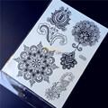 Non Toxic 1PC Larger Body Art Women Henna Arm Tattoo HBJ040 Indian Sun Flower Mehndi Design