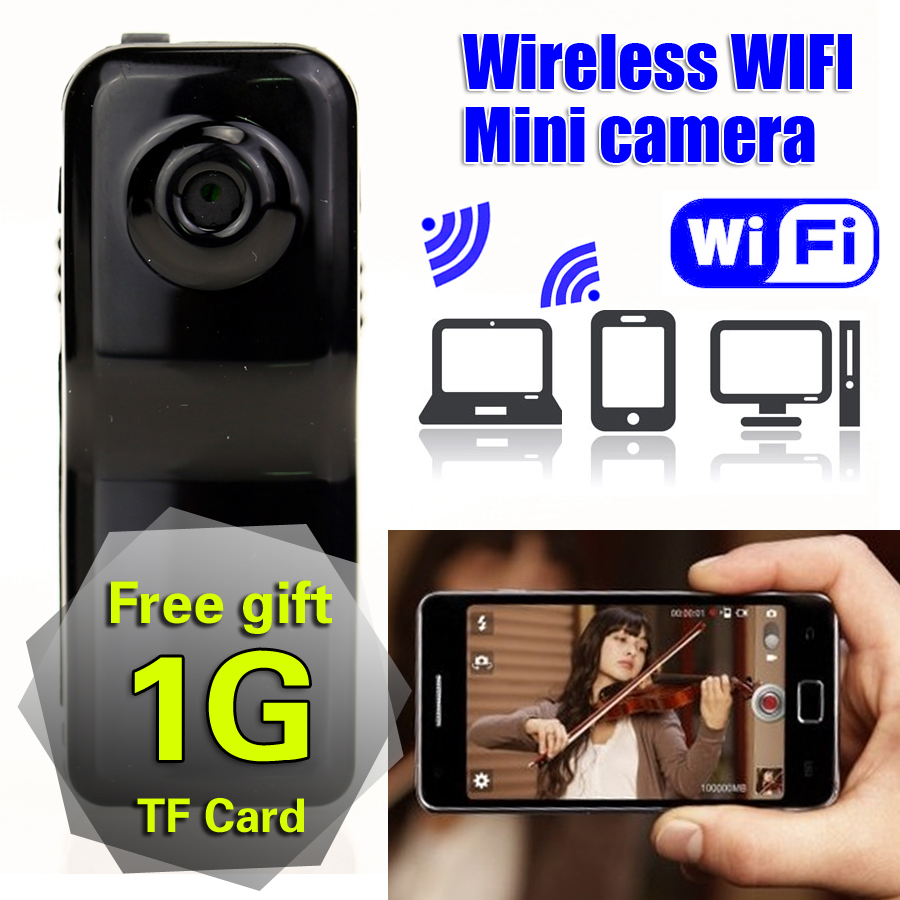 Free Gift 1G TF Card Wireless WiFi Mini Camera HD IP Motion Camcorder/spy Espia Micro Security Action Video Portable Hidden Cam(China (Mainland))
