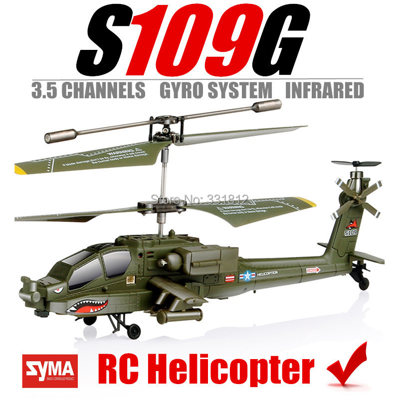 Syma S109G RC Helicopter Gyro System Remote Control Military Helicopter Plane Toys helicoptero de controle remoto 3.5 Channel(China (Mainland))