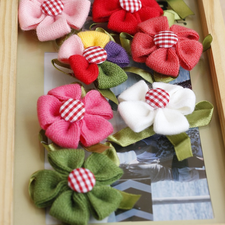Flower brooch handmade yarn bow corsage small fresh corsage(China (Mainland))