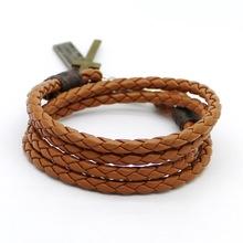Buy 2016 New Fashion Alloy Men's Cross Bracelet High Quality Retro Bracelet Brave Knight Christmas Gift Leather Bracelet Bangle Ms for $1.49 in AliExpress store