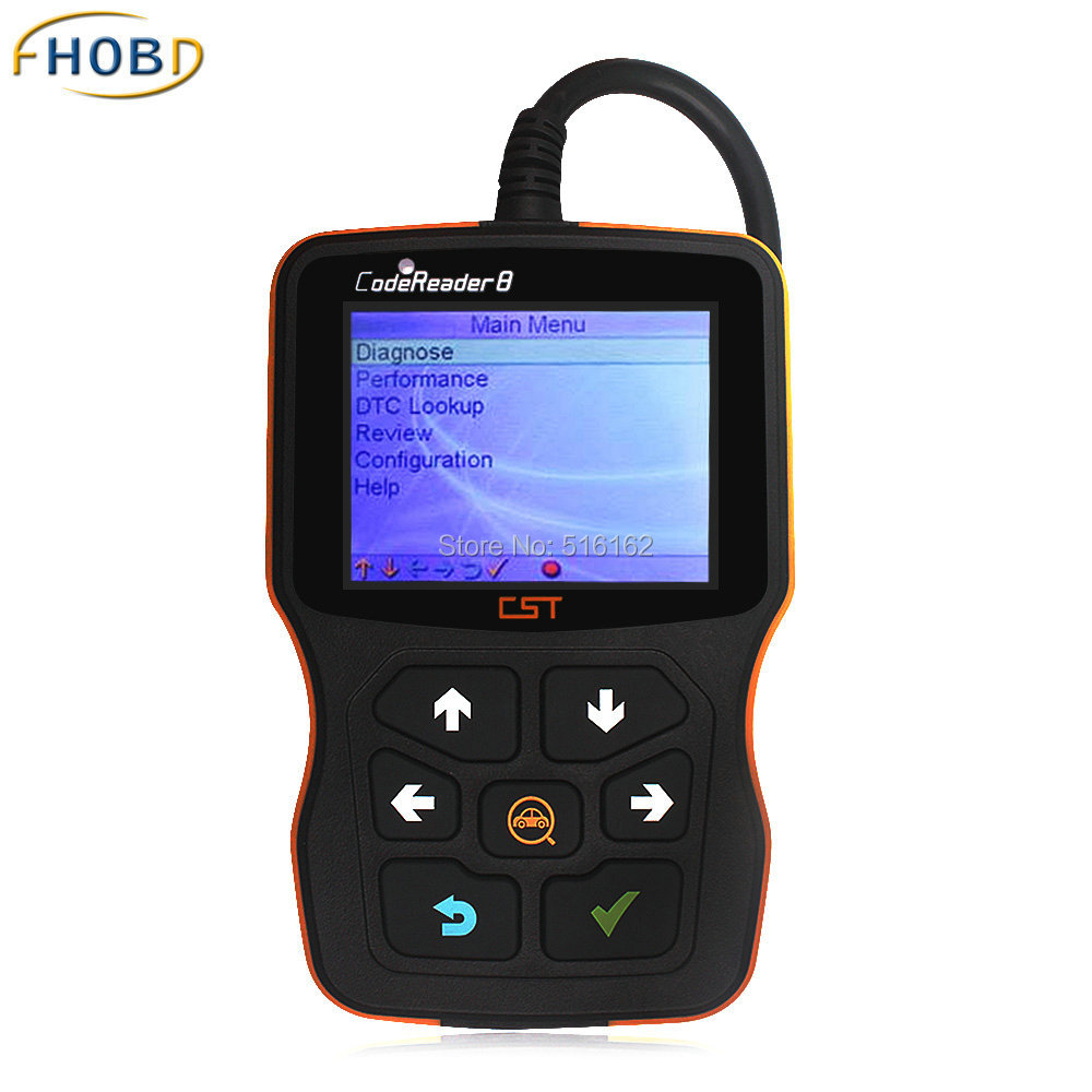 Works on ALL Vehicles Located in the USA 1996 & Newer CST CodeReader 8 CAN OBD II OBD2 Scanner Tool DHL Free Shipping(China (Mainland))