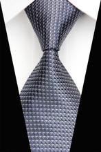 NT0437 Gray Checks Plaids Ties 2014 New Arrival Gentlemen Neckties Jacquard Woven Classic Silk Polyester Man