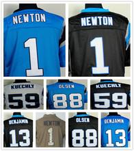 Top qualité # 1 Cam Newton Jersey 100% cousue # 59 Luke Kuechly Jersey football # 88 Greg Olsen Jersey big taille m - xxxxl(China (Mainland))
