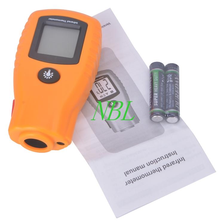D:S=8:1 GM270 Non-Contact Infrared Laser Temperature Measurement Digital LCD Mini Thermometer -32~280C (-26~536F)Emissivity 0.95(China (Mainland))