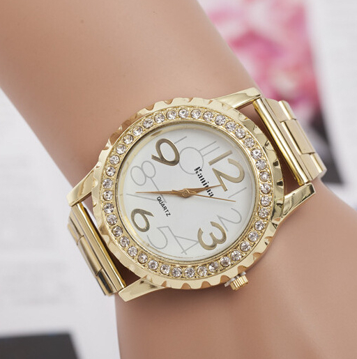 2015 new fashion brand gold watch women and men dress watch luxury men's big dial sport watch with logo(China (Mainland))