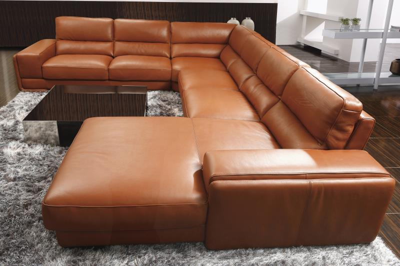 cheap sectional leather sofa modern style for living room home furniture shipping to your port 8079 big U shape(China (Mainland))