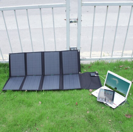 Solar Folding panel Charger 80W with dual output controller USB5V&DC18V(China (Mainland))