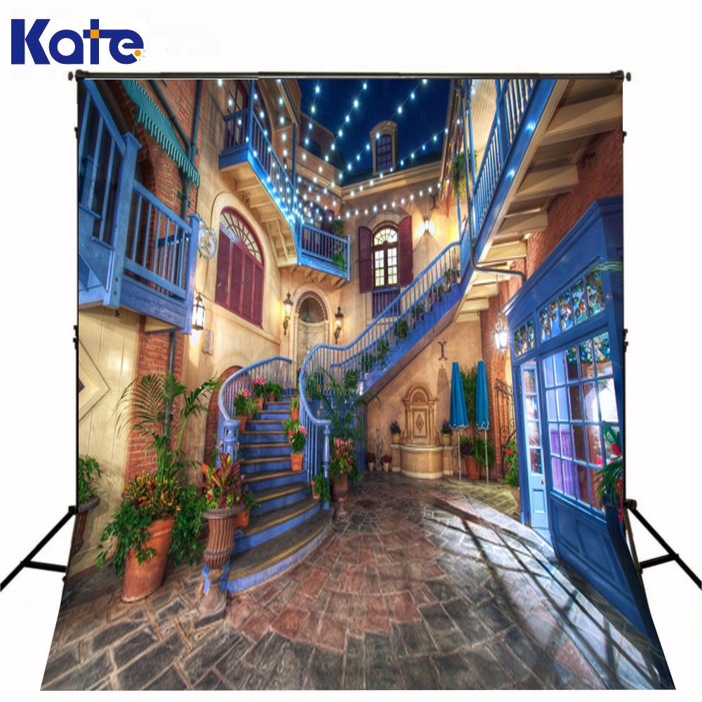 Kate Digital Printing Backdrop Photography Indoor Brick Floor Colorful Light Wedding Background Photography(China (Mainland))