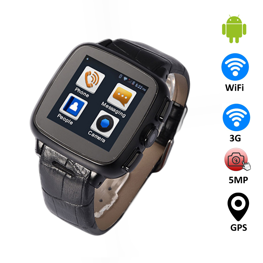 Android SmartWatch GSM CDMA 2G/3G WiFi GPS Smart Wrist Watch with Heart Rate 5MP Camera Dual Core 512MB+4GB TF Card(China (Mainland))